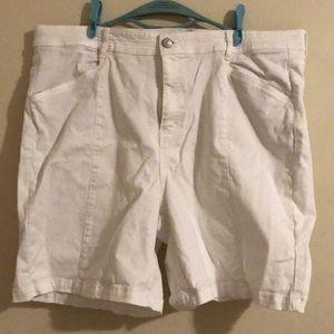 Women's Plus Size White Jean Shorts